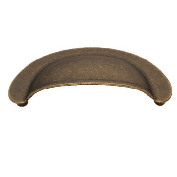 Hickory Hardware Oxford Antique Cup Bin Pull
