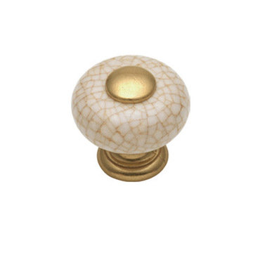 Hickory Hardware Tranquility Brown Crackle Porcelain Knob