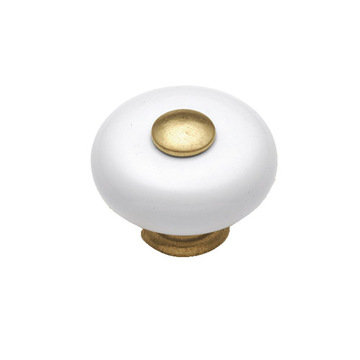 Belwith Keeler Tranquility White Porcelain Knob