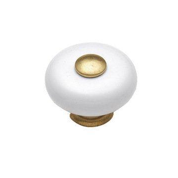 Hickory Hardware Tranquility White Porcelain Knob