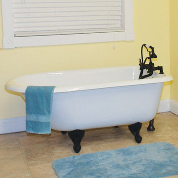 Restorers 55 Inch Rolled Rim Clawfoot Cast Iron Bath Tub