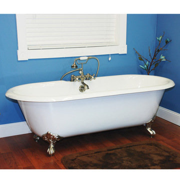 Restorers 67 Inch Dual End Clawfoot Cast Iron Bath Tub