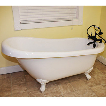 Restorers 61 Inch Slipper Clawfoot Acrylic Bath Tub