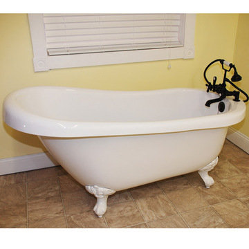 Restorers 67 Inch Slipper Clawfoot Acrylic Bath Tub