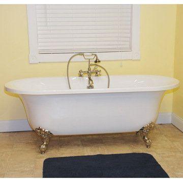 Restorers 70 Inch Dual End Clawfoot Acrylic Bath Tub
