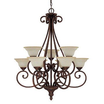 Capital Lighting Chandler 9 Light Chandelier