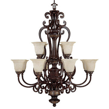Capital Lighting Chesterfield 12 Light Chandelier