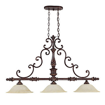 Capital Lighting Chesterfield 3 Light Island Fixture