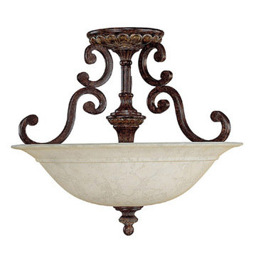 Capital Lighting Chesterfield 3 Light Semi-Flush Ceiling Fixture