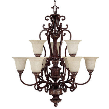 Capital Lighting Chesterfield 9 Light Chandelier