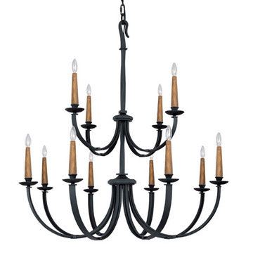 Capital Lighting Heritage 12 Light Chandelier
