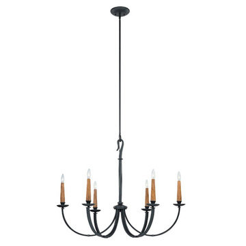 Capital Lighting Heritage 6 Light Chandelier