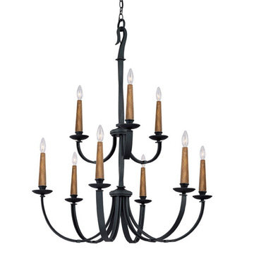 Capital Lighting Heritage 9 Light Chandelier