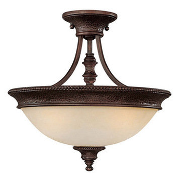 Capital Lighting Hill House 3 Light Semi-Flush Ceiling Fixture