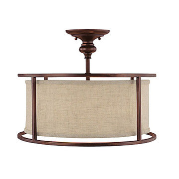 Capital Lighting Loft 3 Light Semi-Flush Fixture