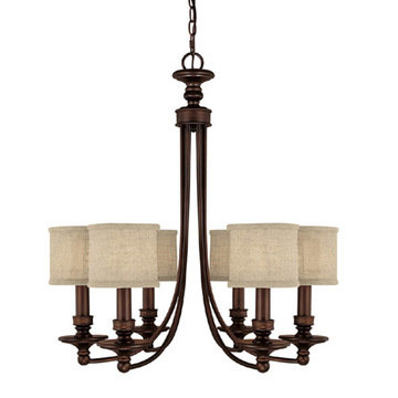 Capital Lighting Midtown 6 Light Chandelier