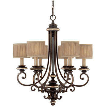 Capital Lighting Park Place 6 Light Multi Shade Chandelier