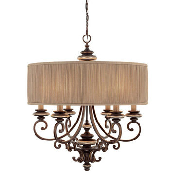 Capital Lighting Park Place 6 Light Single Shade Chandelier