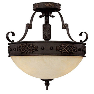 Capital Lighting River Crest 3 Light Semi-Flush Ceiling Fixture