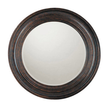 Capital Lighting Round Deep Brown Mirror