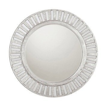 Capital Lighting Round Mirror With Mirrored Frame