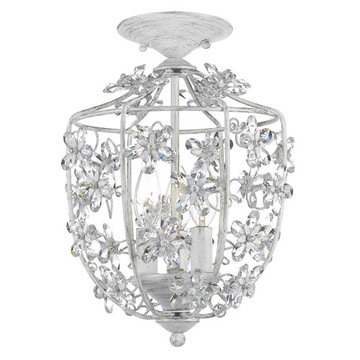 Crystorama Abbie Collection 3 Light Semi Flush Mount