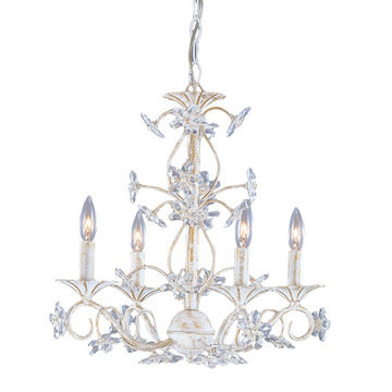 Crystorama Abbie Collection 4 Light Chandelier