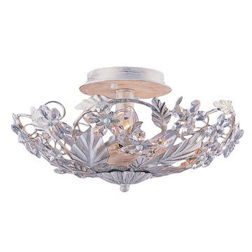 Crystorama Abbie Collection 6 Light Semi Flush Mount