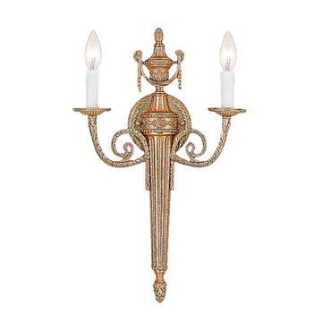 Crystorama Arlington Collection 2 Light Petite Wall Sconce