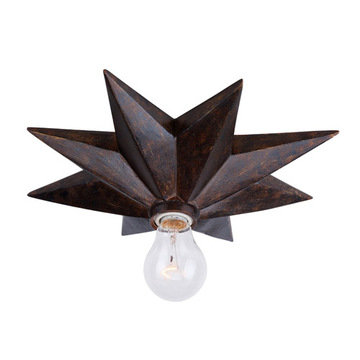 Crystorama Astro Collection 1 Light Flush Mount