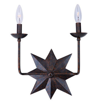 Crystorama Astro Collection 2 Light Sconce
