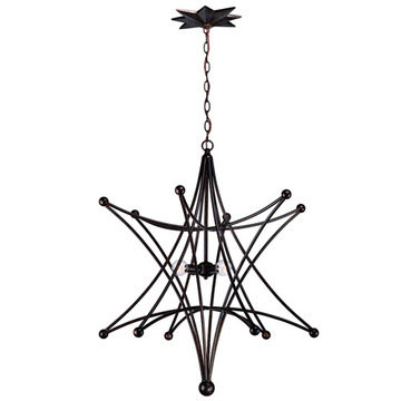 Crystorama Astro Collection 4 Light Chandelier