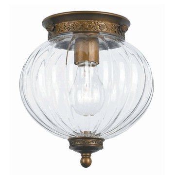 Crystorama Camden Collection 1 Light Flush Mount