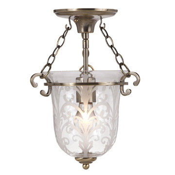 Crystorama Camden Collection 1 Light Semi Flush