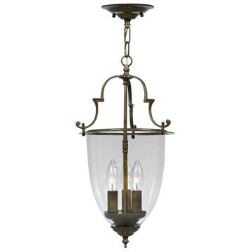 Crystorama Camden Collection 3 Light Autumn Brass Lantern