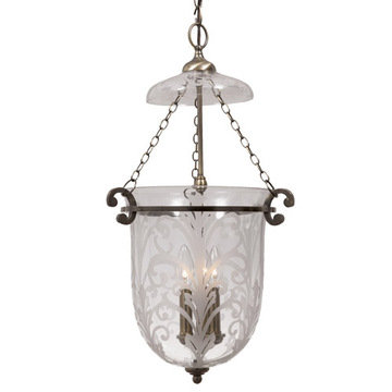 Crystorama Camden Collection 3 Light Pendant