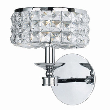 Crystorama Chelsea Collection 1 Light Round Wall Sconce