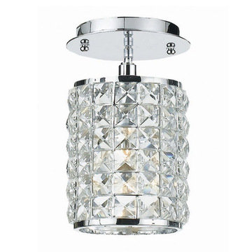 Crystorama Chelsea Collection 1 Light Semi Flush