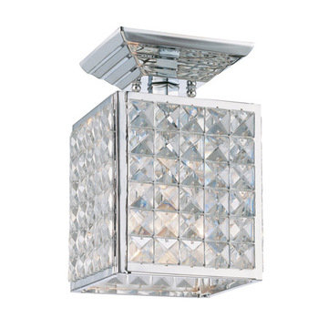 Crystorama Chelsea Collection 1 Light Semi Flush Mount