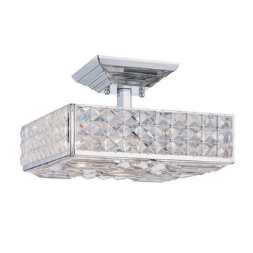 Crystorama Chelsea Collection 3 Light Semi Flush Mount