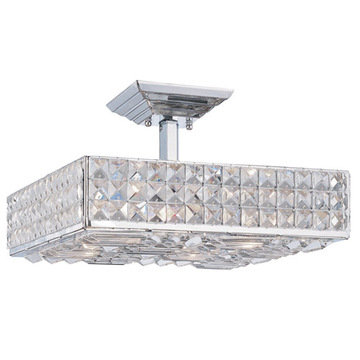 Crystorama Chelsea Collection 4 Light Semi Flush Mount