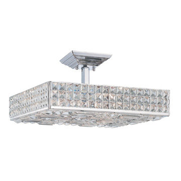 Crystorama Chelsea Collection 6 Light Semi Flush Mount