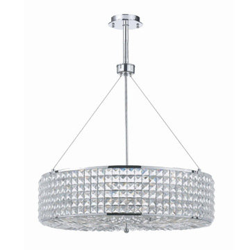 Crystorama Chelsea Collection 8 Light Round Pendant