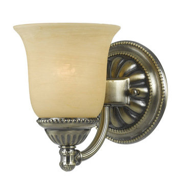 Crystorama Chesapeake Collection 1 Light Bath Sconce