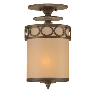 Crystorama Eclipse Collection 1 Light Semi Flush Mount