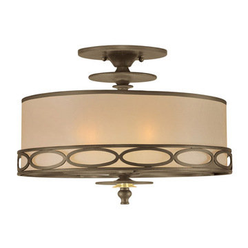 Crystorama Eclipse Collection 3 Light Semi Flush Mount
