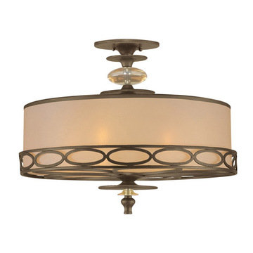 Crystorama Eclipse Collection 5 Light Semi Flush Mount