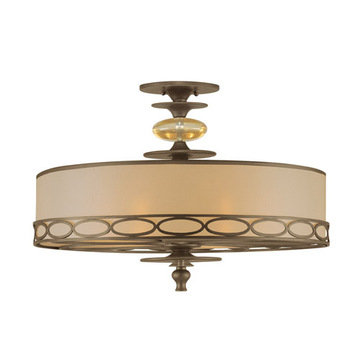 Crystorama Eclipse Collection 6 Light Semi Flush Mount