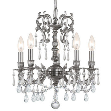 Crystorama Gramercy Collection 5 Light Pewter Chandelier