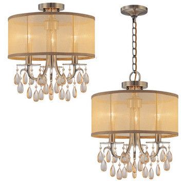 Crystorama Hampton Collection 3 Light Chandelier